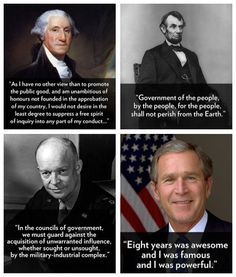 Infer whatever you want. This is simply a list of presidential quotes.