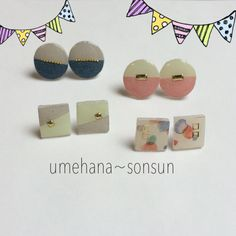 春colorピアス Resin Jewelry, Jewelry Box, Jewelry Making, Jewellery, Earrings Handmade, Handmade Jewelry, Resin Charms, Acrylic Resin, Diy And Crafts