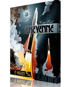 Share Squadron Posters for a 10% off coupon! F.E. Warren AFB Missile #http://www.pinterest.com/squadronposters/
