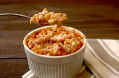 Tomato soup mac & cheese.  It's like tomato soup and grilled cheese had a baby!