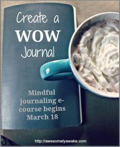 Cherish the Wow Mindful Journaling Ecourse