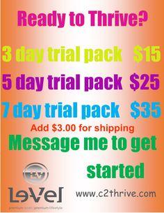 Trial pack includes Thrive Premium Capsule (Men's or Women's), Thrive Premium…