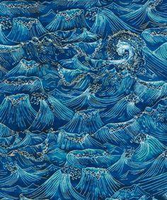 Liberty Art Fabrics Ocean Tana Lawn Cotton | Fabric | Liberty.co.uk