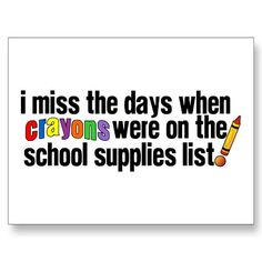 Everybody needs to color! Crayons should be on everyone's school supplies list!