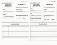 Avon  Campaign Tracking Sheet  Business Forms And Templates