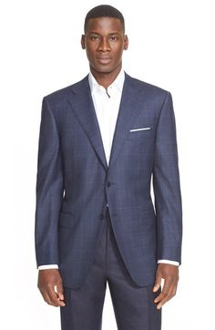 Canali Classic Fit Plaid Wool Sport Coat available at #Nordstrom