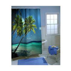 Novelty Shower Curtains | Beach Shower Curtain via Polyvore