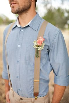 Forget anything you've ever heard about suspenders being nerdy, this accessory is the perfect finish to your groom's summer wedding ensemble.
