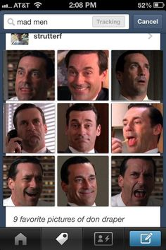 The best faces of Don Draper