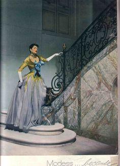 1950 Maxime de la Falaise in a Modess ad, Photo by Cecil Beaton