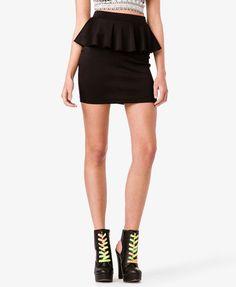 #Forever21                #Skirt                    #Knit #Peplum #Skirt      Knit Peplum Skirt                                   http://www.seapai.com/product.aspx?PID=112402