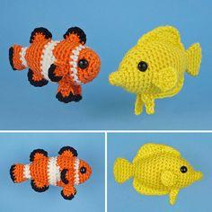 PDF Tropical Fish Set 1  two amigurumi fish CROCHET by PlanetJune