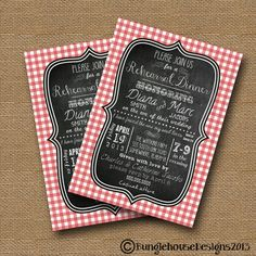 Cute Rehearsal Dinner Picnic or BBQ themed invitation ideas #wedding #rehearsaldinner