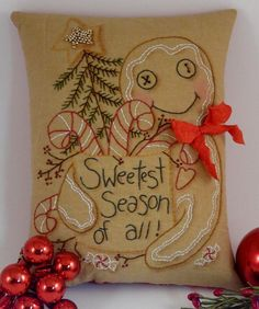 Christmas Gingerbread man Stitchery