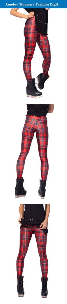 "Amoluv Women's Fashion Digital Print plaid Pattern Sexy Leggings(Red). High waist leggings feature a soft jersey lined comfort waistband, slim stretch fit and beautiful colors. ""Amoluv "" leggings are an affordable way to get runway and celebrity style! We offer the highest quality leggings, these leggings are stylish for you About ""Amoluv "" Store: We offers trendy designer inspired fashion at deep discounts! Usually 7-12 days delivery to USA, tracking number will be provided!Expedited..."