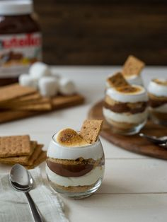 Nutella S'mores Parfaits