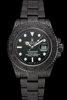 df54b401b6 Rolex Submariner Skull Limited Edition Green Dial All Black Case And  Bracelet 1454076