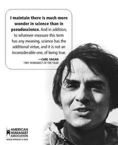 Image result for carl sagan humanist of the year 1982