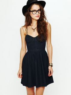denim bustier dress/ I have this pattern/ looks great in denim