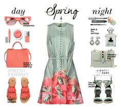 """Spring Dress, Day to Night"" by wafa-lachaal on Polyvore featuring mode, Elie Saab, TIBI, Valentino, Dolce&Gabbana, Marni, Belk & Co., Christian Dior, Clinique et Guerlain"