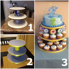 DIY Cupcake Stand gonna try it for this weekend!