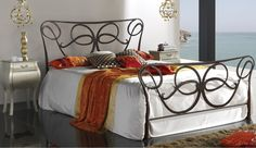 Exemplary Classic White Satin on Twisted Metal Frame with Bedroom ...