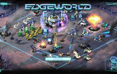 Play EDGEWORLD free and Conquer The Competition, build an army,compised of Marines.Pulse tanks, andmore!