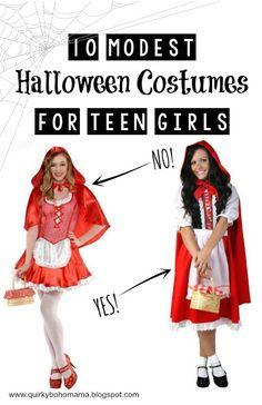 quirky bohemian mama 10 modest versions of popular teen girl halloween costumes - Popular Tween Halloween Costumes