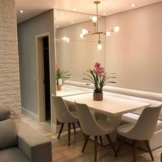Living Room Designs, Living Room Decor, Small Modern Kitchens, Glamour Decor, Narrow Living Room, Dinner Room, Modern Home Interior Design, Apartment Design, House Rooms