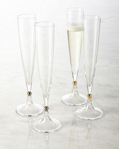 H7HJK Rogaska Two Remembrance Champagne Flutes