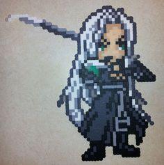 Perler Sephiroth by ~IAmArkain on deviantART