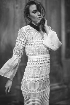 Rebecca Laurey by @RebeccaLaurey LACE DRESS: http://bit.ly/298sjGd  PLATFORM WHITE SNEAKERS: http://bit.ly/29aziDH