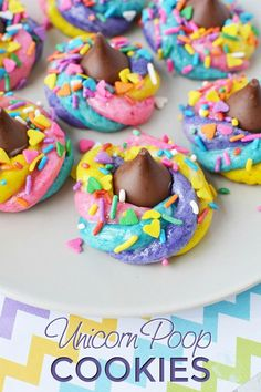 Sparkling and colorful unicorn poop cookie recipe Unicorn Poop Cookies are fun for birthday parties, holidays or whenever your favorite unicorn fan! Sparkly and Colorful Unicorn Poop Cookies Recipe 653 Source by jennifersoltys Unicorn Poop Cookies, Cookie Recipes, Dessert Recipes, Easter Recipes, Unicorn Foods, Salty Cake, Fun Cookies, Savoury Cake, Mini Cakes
