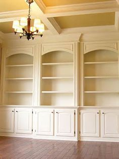 Built ins - arched molding