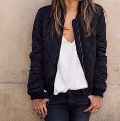 Quilted Bomber Jacket - WANT! I would like a bomber jacket for spring/summer. Pastel Outfit, Fall Jackets, Jackets For Women, Bomber Jackets, Jackets For Dresses, Coats And Jackets, Leather Jackets, Shop Jackets, Casual Jackets