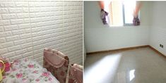 Αφρωδες Υλικό για τοιχο, Ταπετσαρια Ασφαλειας 1εκ Foam Panels, Living Room Background, Tv In Bedroom, Living Room Tv, Brick Wall, Decoration, Wall Sticker, Mirror, Diy