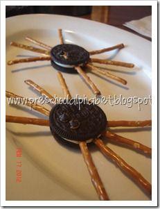Preschool Alphabet: The Very Busy Spider snack