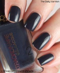L'Oreal Elegance is Innate. Nice smooth finish. Needs topcoat for shine.