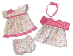 """Diana's Patch - Custom Cabbage Patch Kids and Clothing: Kimono Style Dress Pattern for 16"""" Cabbage Patch Kids Kimono Style Dress, Kimono Fashion, Fashion Dresses, Cabbage Patch Kids Clothes, Hook And Loop Tape, Rolled Hem, Different Fabrics, Doll Clothes, Patches"""