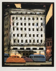 """Department Store,"" 15x12, Edition of 28, 1988, Lockwood Dennis"