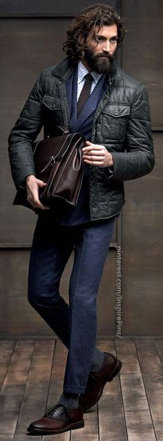 Oh that beard is hot. It's climbing up his face.  Brunello Cucinelli