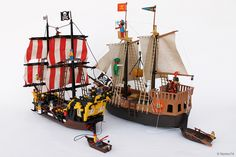 "https://flic.kr/p/p8zS2y | Pirates: Playmobil Vs LEGO | <b>Playmobil and LEGO ""pirate ship""</b> Last year Playmobil turns forty and these shots are a tribute to <b>Hans Beck</b> (1929-2009), who designed them in 1974. <b>Happy birthday Playmobil!</b> In <b>1978 Geobra Brandstätter</b> launched the Playmobil set number <b>3550</b>, universally known as the ""pirate ship"". This set was a huge success worldwide. The 3550 was produced until 1984 when it was subjected to a slight restyling. Today…"