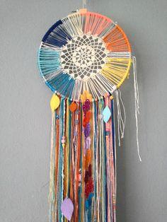 Dreamcatcher with Doily Beads Charms & by StylishStuffBySteph, $45.00