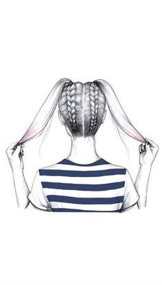 De colitas a trenzas #trenzas #peinadosartisticos