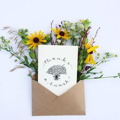 "Hand-lettered Thank You Cards (Set of 6) |""Thanks a Bunch""