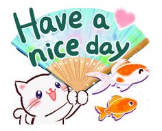 LINE Creators' Stickers - -Cute cat and summer day- Example with GIF Animation Good Morning Snoopy, Good Morning Friends Quotes, Good Morning Gif, Good Night Quotes, Good Day Gif, Hi Gif, Hello Quotes, Friendship Pictures, Line Sticker