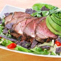 Steak Salad with Chipotle Dressing, a recipe from ATCO Blue Flame Kitchen's Everyday Delicious 2003 cookbook. Australian Beef, Chipotle Dressing, Lamb Skewers, Leftover Steak, Steak Salad, Sirloin Steaks, Restaurant Week, Meat Chickens, Cooking Tips