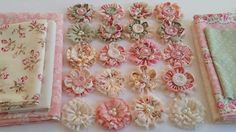 Gorgeous Shabby Chic Fabric Flowers - Part 1.