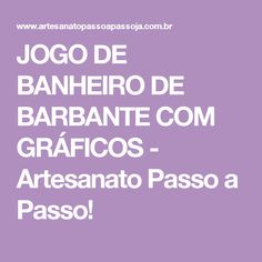 JOGO DE BANHEIRO DE BARBANTE COM GRÁFICOS - Artesanato Passo a Passo!