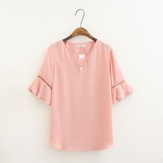>> Click to Buy << Women T-shirt Plus Size Summer Tees Fashion Butterfly Sleeve Bead Pendant Chiffon T Shirt Maxi Shirts Tops Female Tshirt  #Affiliate
